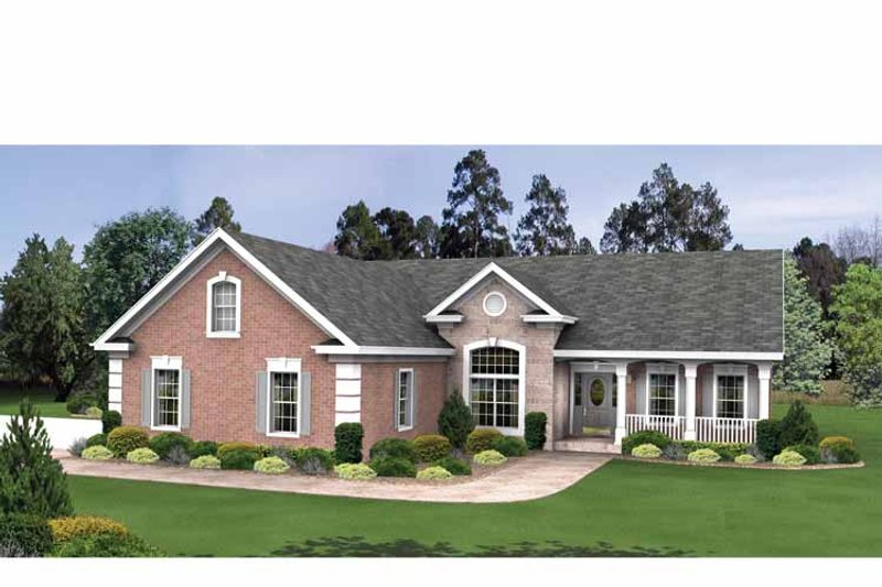 Country Exterior - Front Elevation Plan #56-695 - Houseplans.com