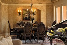 Architectural House Design - Mediterranean Interior - Dining Room Plan #930-355