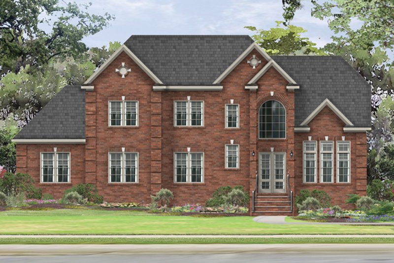 Traditional Exterior - Front Elevation Plan #1057-5 - Houseplans.com
