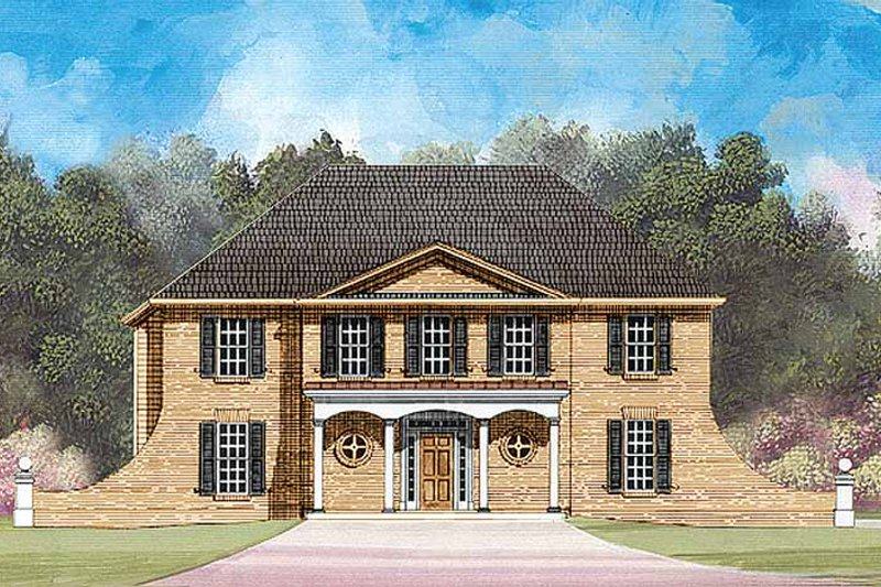 Colonial Exterior - Front Elevation Plan #119-372
