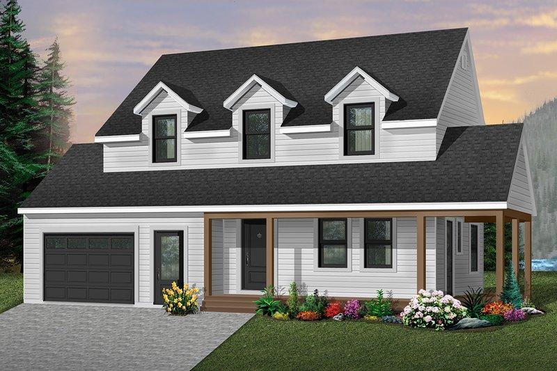 Architectural House Design - Farmhouse Exterior - Front Elevation Plan #23-278