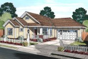 House Plan - 3 Beds 2 Baths 1381 Sq/Ft Plan #513-2073 Exterior - Front Elevation