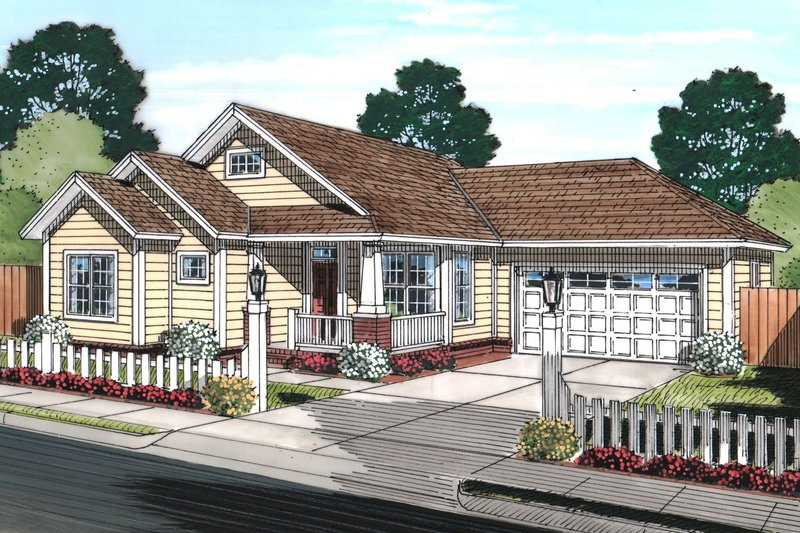 House Plan - 3 Beds 2 Baths 1381 Sq/Ft Plan #513-2073