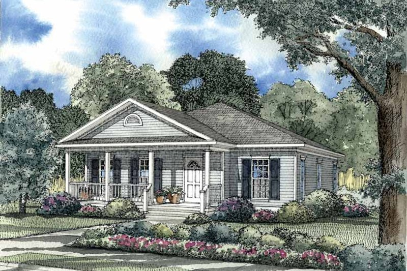 Country Exterior - Front Elevation Plan #17-2753