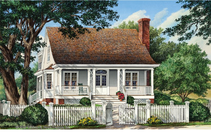 Traditional Exterior - Front Elevation Plan #137-358 - Houseplans.com