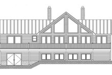 Country Exterior - Rear Elevation Plan #1061-12