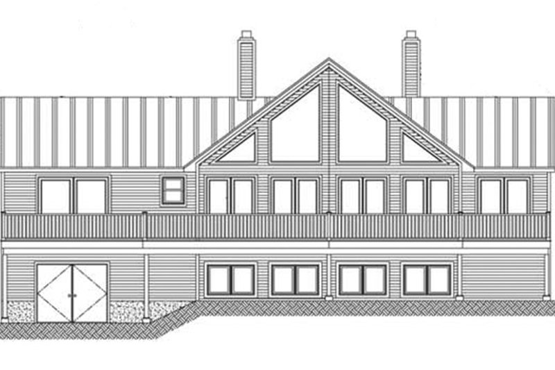 Country Exterior - Rear Elevation Plan #1061-12 - Houseplans.com