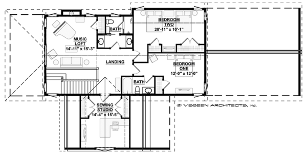 Country Floor Plan - Upper Floor Plan Plan #928-278