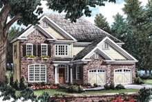 Dream House Plan - Traditional Exterior - Front Elevation Plan #927-13