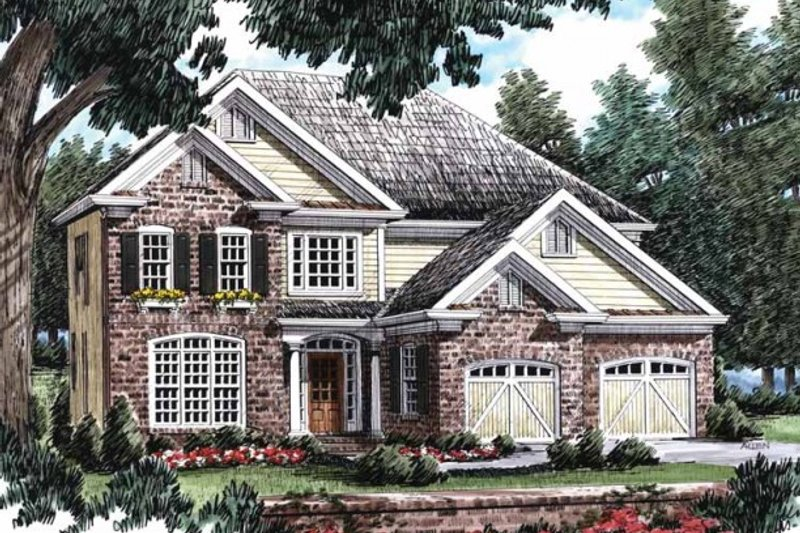 Traditional Exterior - Front Elevation Plan #927-13 - Houseplans.com