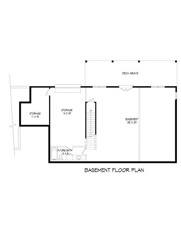 Country Floor Plan - Lower Floor Plan Plan #932-36