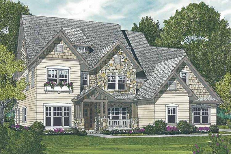 Craftsman Exterior - Front Elevation Plan #453-557 - Houseplans.com