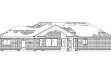 House Plan Design - Traditional Exterior - Rear Elevation Plan #5-253