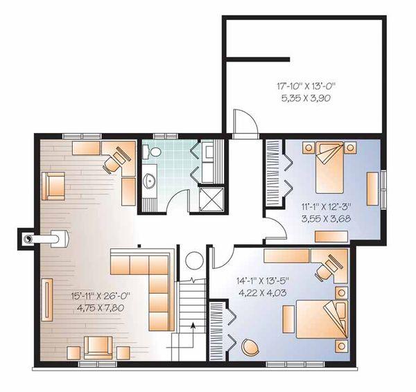 Colonial Floor Plan - Lower Floor Plan Plan #23-2521