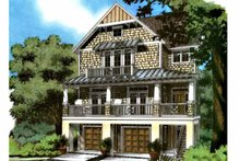 Architectural House Design - Country Exterior - Front Elevation Plan #991-15