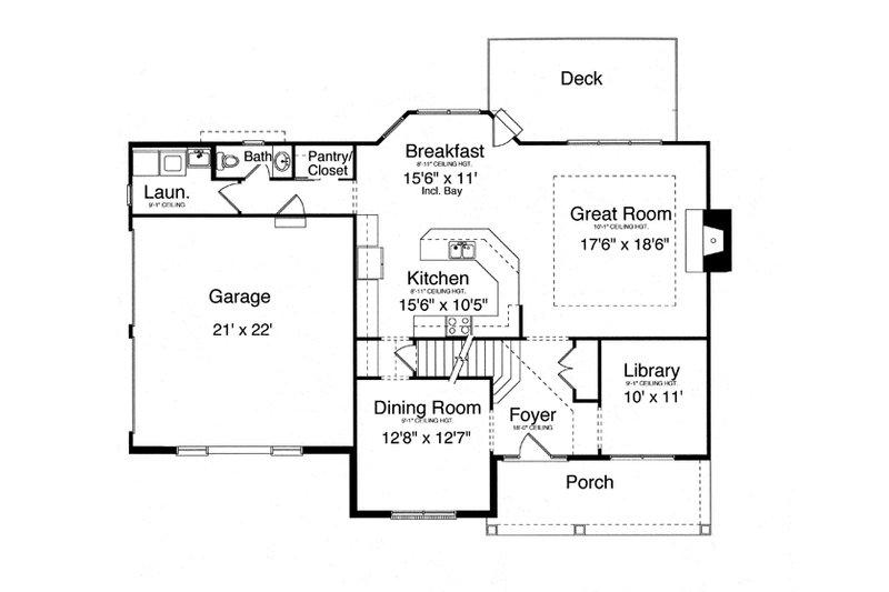 Traditional Floor Plan - Main Floor Plan Plan #46-837