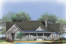 Farmhouse Exterior - Rear Elevation Plan #929-727