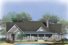 Dream House Plan - Farmhouse Exterior - Rear Elevation Plan #929-727