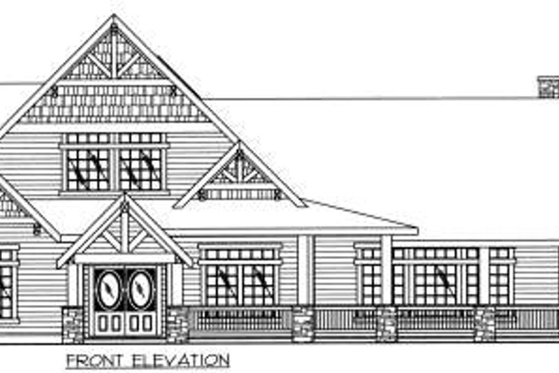 Bungalow Exterior - Other Elevation Plan #117-581 - Houseplans.com