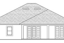 Colonial Exterior - Rear Elevation Plan #1058-123
