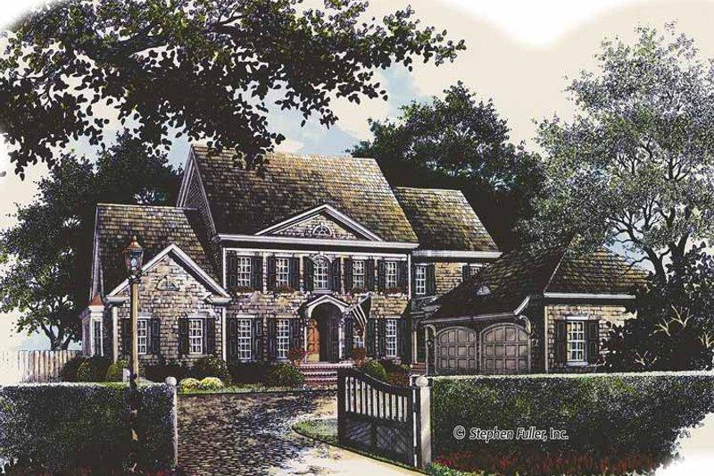 Colonial Exterior - Front Elevation Plan #429-428 - Houseplans.com