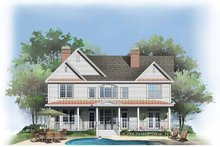 Dream House Plan - Traditional Exterior - Rear Elevation Plan #929-787