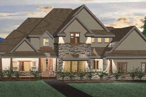 Architectural House Design - Craftsman Exterior - Front Elevation Plan #937-2