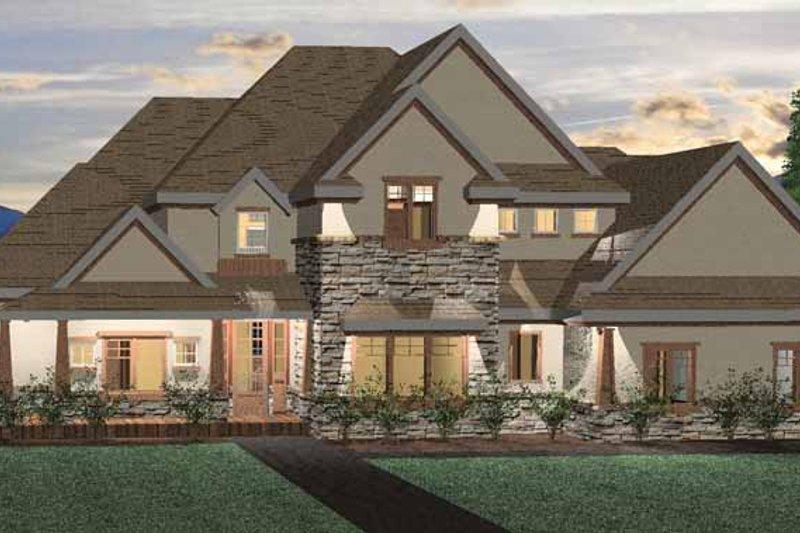 House Plan Design - Craftsman Exterior - Front Elevation Plan #937-2