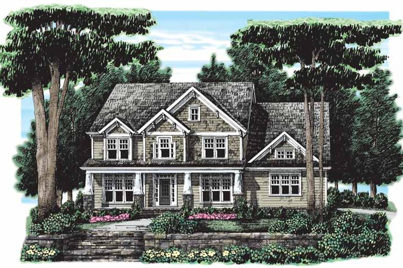 Home Plan - Craftsman Exterior - Front Elevation Plan #927-263