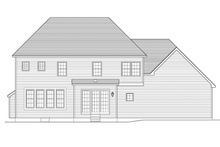Colonial Exterior - Rear Elevation Plan #1010-61