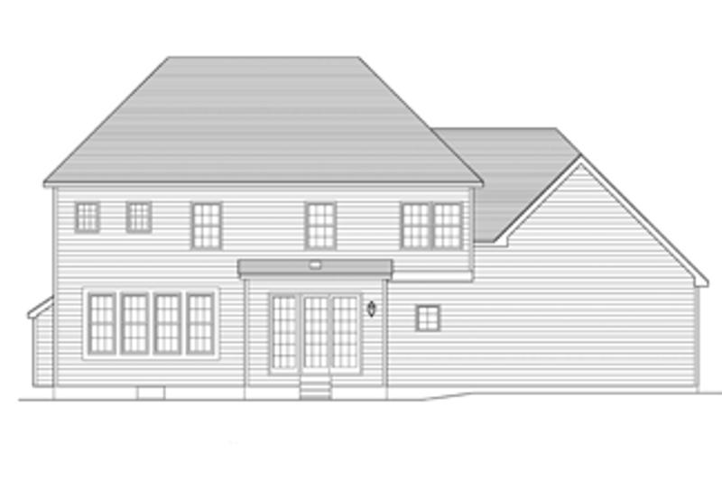 Colonial Exterior - Rear Elevation Plan #1010-61 - Houseplans.com