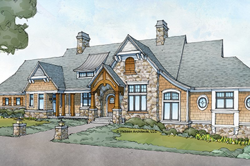 Architectural House Design - Country Exterior - Front Elevation Plan #928-264