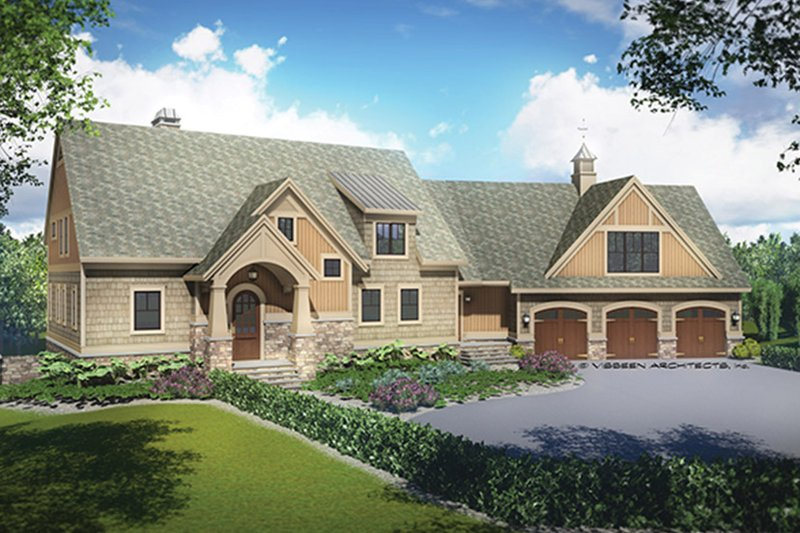 European Exterior - Front Elevation Plan #928-217