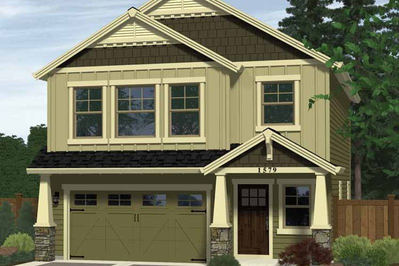 Craftsman Exterior - Front Elevation Plan #943-13