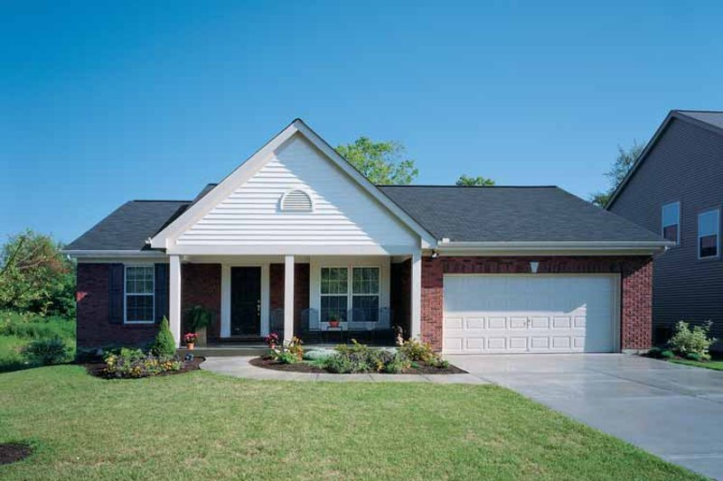 Country Exterior - Front Elevation Plan #46-570 - Houseplans.com