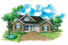 House Plan Design - Country Exterior - Front Elevation Plan #930-235