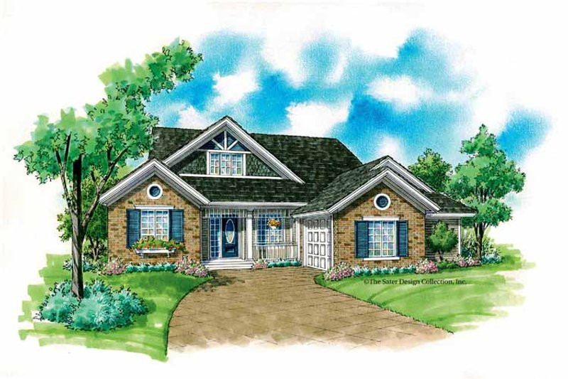 Country Exterior - Front Elevation Plan #930-235