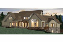 Architectural House Design - European Exterior - Rear Elevation Plan #937-19