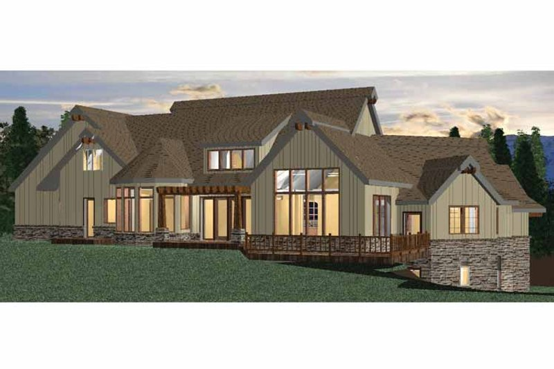 European Exterior - Rear Elevation Plan #937-19 - Houseplans.com