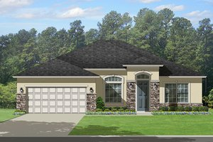 Home Plan Design - Mediterranean Exterior - Front Elevation Plan #1058-116