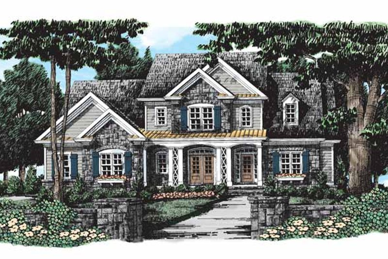 Country Exterior - Front Elevation Plan #927-278