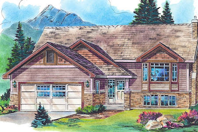 Traditional Style House Plan - 2 Beds 2 Baths 1254 Sq/Ft Plan #18-4519
