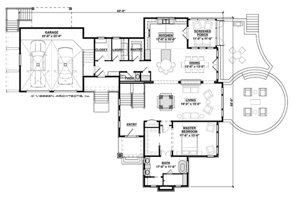 Craftsman Floor Plan - Main Floor Plan Plan #928-280