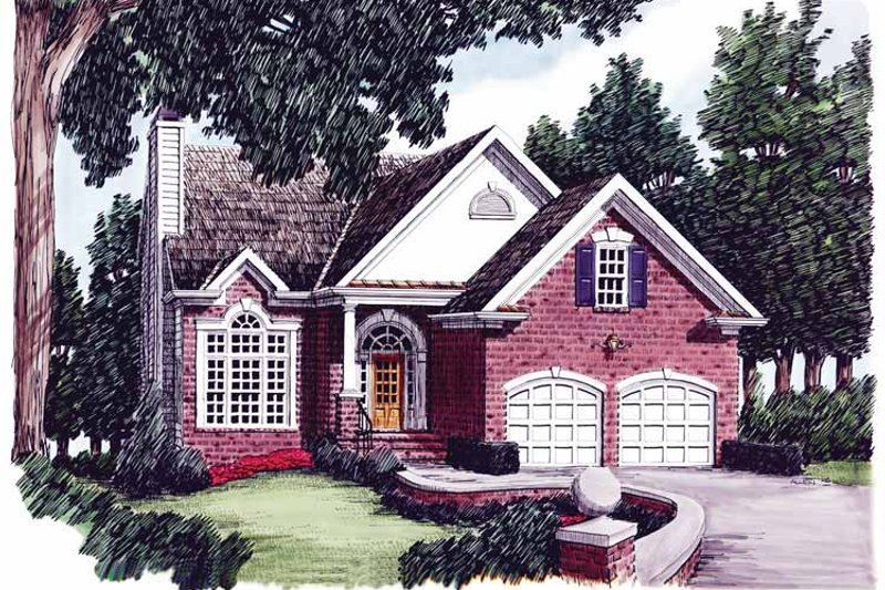 Country Exterior - Front Elevation Plan #927-563