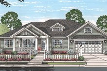 Ranch Exterior - Front Elevation Plan #513-2160