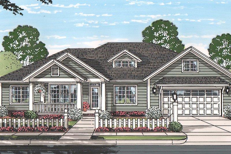 Ranch Exterior - Front Elevation Plan #513-2160 - Houseplans.com