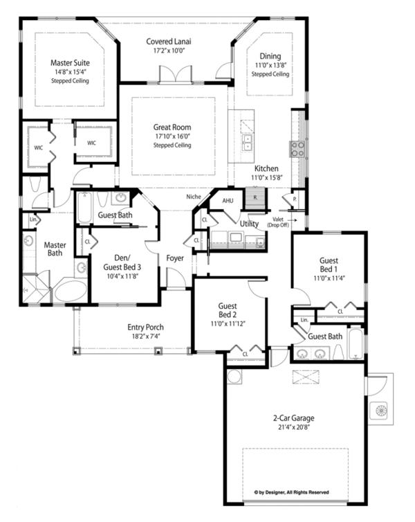 Country Floor Plan - Main Floor Plan Plan #938-79