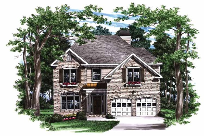 Colonial Exterior - Front Elevation Plan #927-700