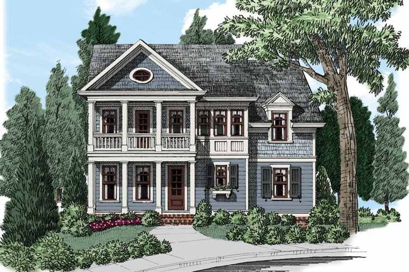 Colonial Exterior - Front Elevation Plan #927-501 - Houseplans.com