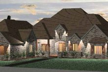 Country Exterior - Front Elevation Plan #937-8